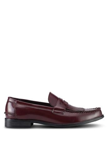ZALORA red Faux Leather Slip On Dress Shoes 94EFASHC11F2D9GS_1