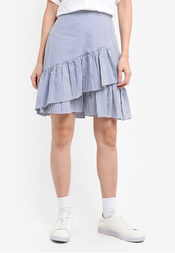 ESPRIT blue Light Woven Mini Skirt E5BBFAAD732BB9GS_1
