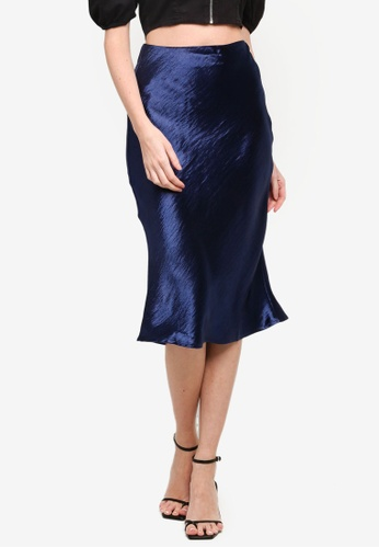 URBAN REVIVO blue Fashion Fishtail Skirt FA87CAA475C720GS_1