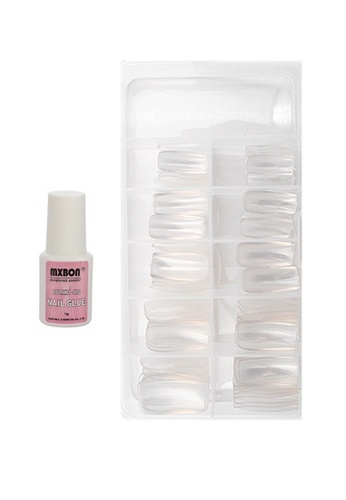 Pretty2u Full & Clear 100pcs Nail Tips & Nail Glue Set PR716BE65EESMY_1