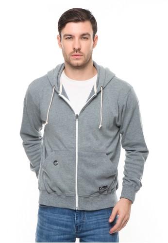 HEMMEH grey Jaket Sweater Hoodie Grey Hemmeh 2B411AADFFECF4GS_1