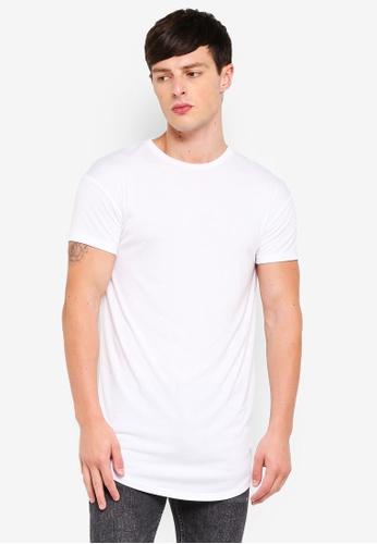 5fd18202 Buy Topman White Longline T-Shirt   ZALORA HK