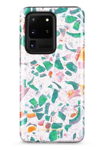 Polar Polar blue Terrazzo Lake Blue Samsung Galaxy S20 Ultra 5G Dual-Layer Protective Phone Case (Glossy) DB33CAC246C367GS_1