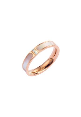 CELOVIS gold CELOVIS - Colette Tri-Dias in Mother of Pearl Ring 2F147AC3A42139GS_1