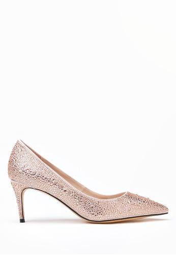PAZZION beige Metallic Pointy Front Low Heels 18B54SHCA8CF81GS_1