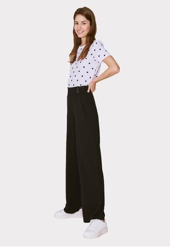 Terranova black Palazzo Trousers With Pleats 3CB9DAA7DCDEBEGS_1