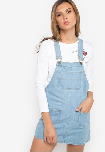a0b67b3c4d Shop NEXT Denim Jumper Dress Online on ZALORA Philippines