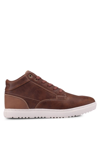 Burton Menswear London brown Tan Leather Look Sports Boots 51E48SH6A35967GS_1