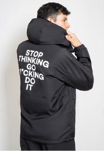 Ocwa Studio black OCWA Men Stop Thinking Black Jacket 87632AA4727F16GS_1