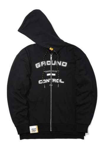 Fivecm black Ground Control zip hoodie 0B705AAC99A1F4GS_1
