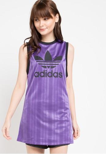 ADIDAS purple Adidas Originals Long Tank 05827AA7734CD3GS_1