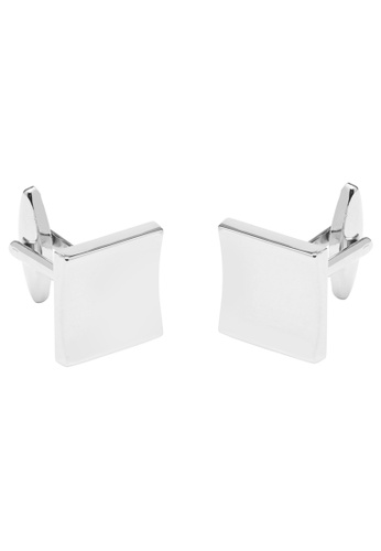 Buckle silver Square Nickel Cufflinks D7D93ACB52547BGS_1