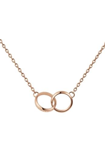 Daniel Wellington gold Elan Unity Necklace Rose Gold 1547BAC669DF03GS_1
