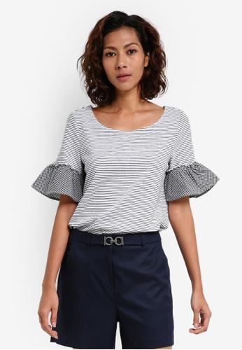 ESPRIT white Short Sleeve T-Shirt BB535AAD234D17GS_1