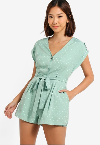 647a7a15008e Buy Something Borrowed Self Tie Playsuit Online on ZALORA Singapore