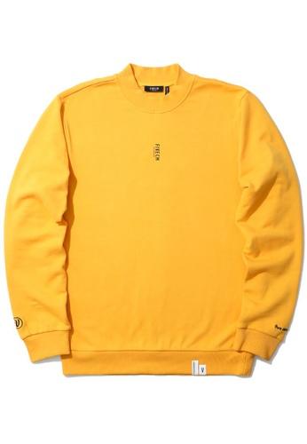 Fivecm yellow Slogan print sweatshirt 1EC31AA4632063GS_1