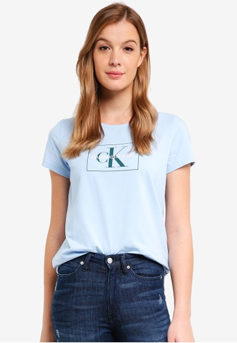 Calvin Klein blue A-Outline Monogram - Calvin Klein Jeans 61241AAAF2F735GS_1