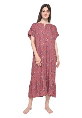 Pajamalovers red Luisa122072 Long Dress AD42FAA1FD4736GS_1