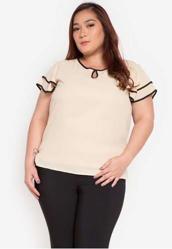 ee14046b8514 Shop Divina Plus Size Layered Sleeve Blouse Online on ZALORA Philippines