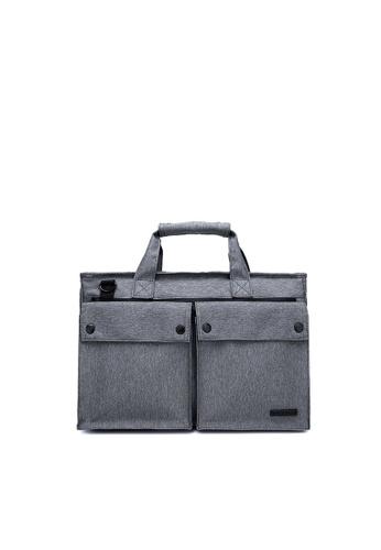 The Dude grey Smasher Briefcase TH373AC70CGNHK_1