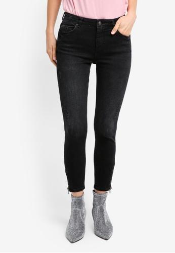 ESPRIT black Cropped Denim Pants ES374AA0T141MY_1