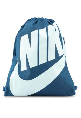 8fc41281b1f79 Nike blue Unisex Nike Heritage Gym Sack 78AAAAC45994D4GS 1