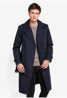 90a5b345409c76 OVS blue and navy Double-breasted Trench Coat 7EC44AA56D06A7GS_1