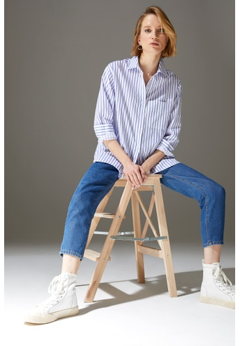 DeFacto white Woman Woven Long Sleeve Shirt CCE57AA4DCA074GS_1