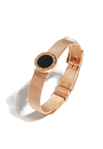 CELOVIS black and gold CELOVIS - Cadence Roman Numeral Adjustable Bracelet in Rose Gold FD0A9AC9EB827AGS_1