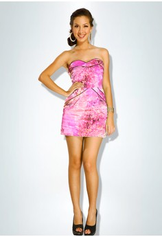 Devidasi Pink Sexy Sweetheart Cocktail Dress