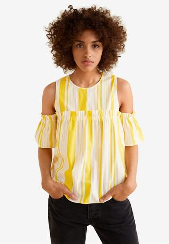 MANGO yellow Ruffled Cotton Top 2BC64AAFE8416FGS_1