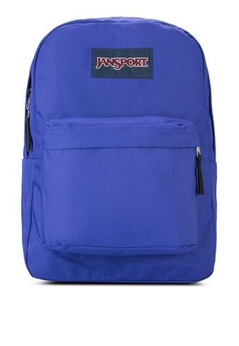 Jansport purple Superbreak Solid Backpack JA216AC57XBMMY_1