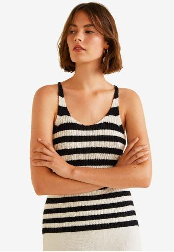 MANGO black Cotton-Blend Knit Top AEB5BAA1F74A47GS_1