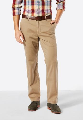 Dockers brown Dockers Pacific Washed Khaki Straight Pants New British Khaki 8027FAA5DF94C8GS_1