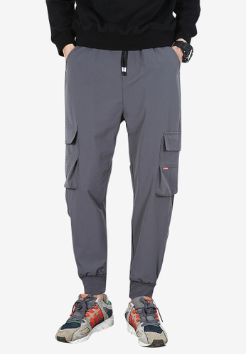 hk-ehunter grey Men Jogger Pants 74793AA0D1E57DGS_1