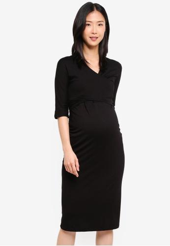 Dorothy Perkins 黑色 Maternity Black Ballet Wrap Dress 8C1BBAA99CB235GS_1