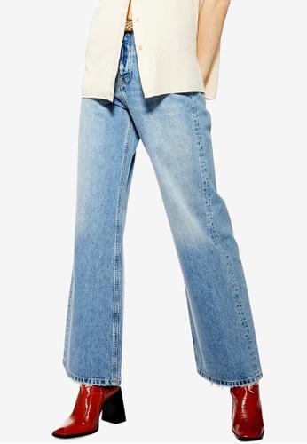 b0a802df6ab9 TOPSHOP blue Bleach Slim Wide Leg Jeans 1B621AA51D37CDGS 1
