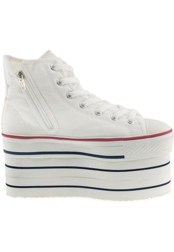 Maxstar white Maxstar Women's CNW 7 Holes Super Platform Canvas High Top Sneakers US Women Size MA164SH94PQRSG_1