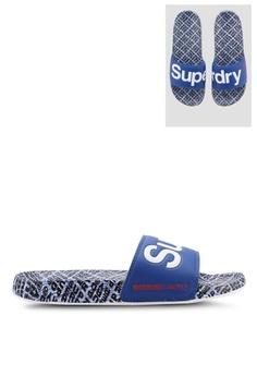 Superdry blue Superdry Aop Beach Slides 0BB7FSH81C6B53GS 1 279ed27a51
