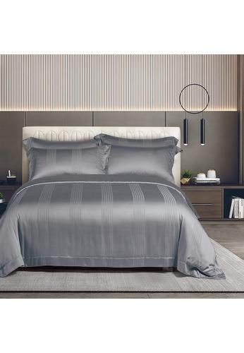 Epitex grey Cressent Dale 1500TC LA3302-3 Dark Grey Valenfil Collection Filagen Collagen Fibre Jacquard Bedset (w quilt cover) E3DF2HLD9A66A7GS_1