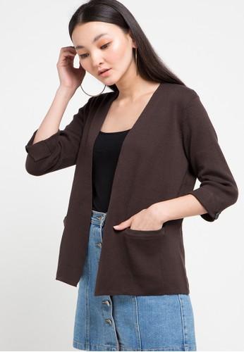 Noir Sur Blanc brown Ladies Cardigan 73977AA9CFBDF6GS_1