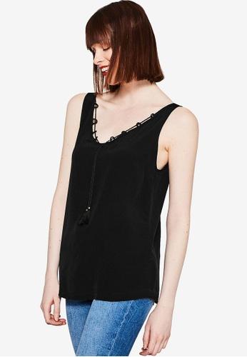 ESPRIT black Sleeveless Blouse ES374AA89CNYMY_1