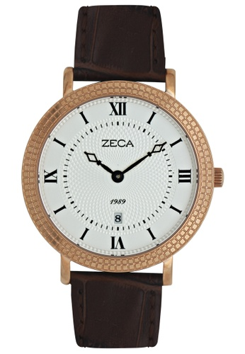 ZECA pink and silver and gold Zeca Watches Couple Ladies Fashion Leather Analog - 333L Brown Rosegold ZE260AC70SLLSG_1