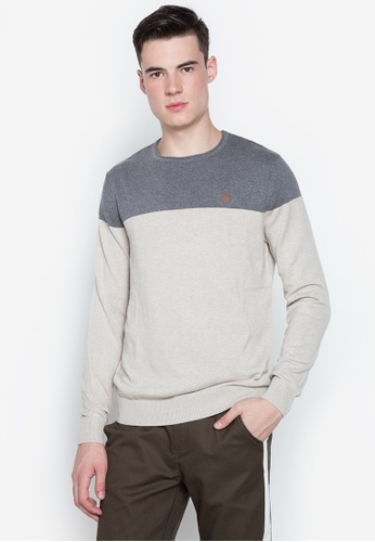 Springfield grey Two Tone Pullover BF135AAA844072GS_1