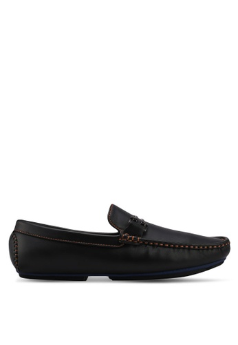 UniqTee black Sleek Loafers With Buckle & Stitch E07A2SH46C9C56GS_1