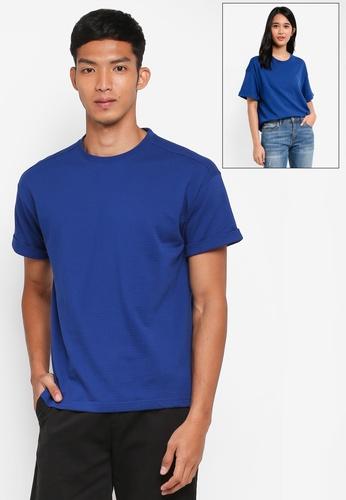 UniqTee blue Short Sleeve Roller Tee B385DAA2A4AEB8GS_1