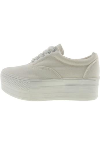 Maxstar 白色 新款韩国鞋C50-5H時尚帆布布混合女白色 US Women Size MA345SH98GTHTW_1