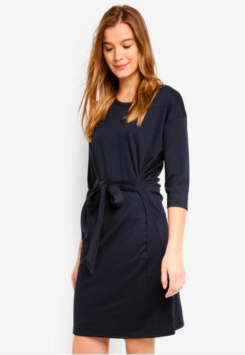ICHI blue Delina Dress 48A5CAA2293539GS_1