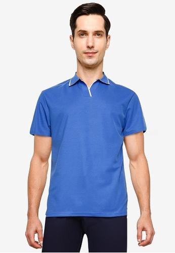 ZALORA BASICS blue Contrast Tip Relaxed Polo Shirt 38C48AA85D1509GS_1
