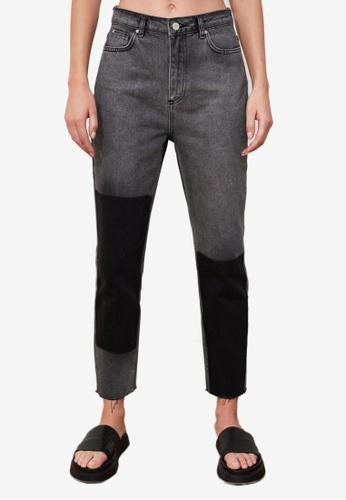 Trendyol black High Waist Mom Jeans E03F0AA17674E6GS_1